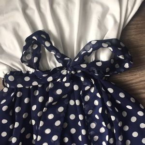 Charming Charlie Dresses - Polk-a-Dot Sun Dress with Bow Belt